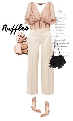 """""""Ruffled Top"""" by larizoid ❤ liked on Polyvore featuring The Row, Boohoo, Gianvito Rossi and Marni"""