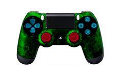 PS4Controller-GreenFire   Flickr - Photo Sharing! #PS4controller #PS4 #PlayStation4controller #customcontroller #moddedcontroller #dualshock4