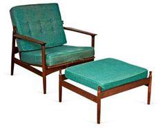 1960s Selig Armchair & Ottoman