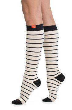 VIM & VIGR Nautical Stripe Graduated Compression Trouser Socks