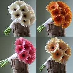 Gerbera are a great choice ... always in season and tons of colors!