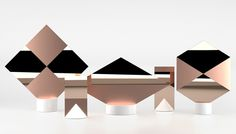 Signs by Jérémy Murier & Daniel Martinez - Design Milk Modern Interior Design, Interior And Exterior, Copper Interior, Plascon Colours, Decorative Accessories, Home Accessories, Vases, Copper Mirror, Mirror Mirror