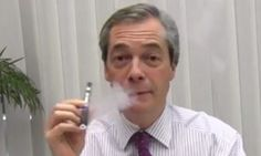 Ukip given £25,000 by manufacturer of e-cigarettes which were later hailed as 'remarkable' by smoker Nigel Farage