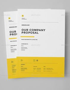 Searching for professional, modern business proposal templates? Invoice Design, Graphic Design Brochure, Brochure Layout, Graphic Design Trends, Branding Design, Web Design, Book Design, Layout Design, Business Proposal Template