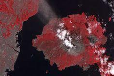 Activity at Sakurajima Volcano : Natural Hazards : NASA Earth Observatory