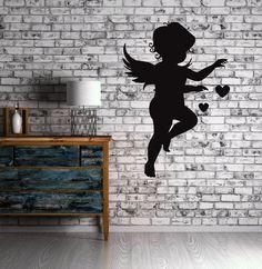 Cupid Love Angel Heart Positive Love Wall Art Decor Vinyl Sticker z499