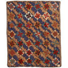LeMoyne Stars Quilt | From a unique collection of antique and modern quilts at https://www.1stdibs.com/furniture/folk-art/quilts/