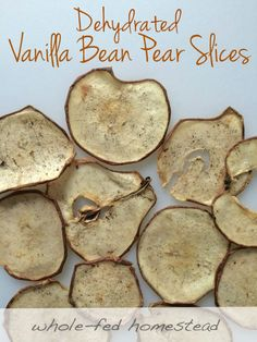 Dehydrated Vanilla Bean Pear Slices by @wholefedhomestead #paleo