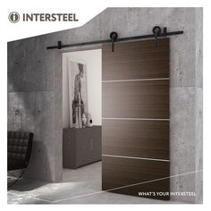 Intersteel Schuifdeursysteem Modern mat mwart Black Doors, Home, Door Brackets, Modern, Door Kits, Types Of Doors, Sliding Doors, Doors, Barn Door