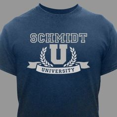 Family University T-Shirt | Personalized Shirts