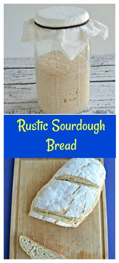 Have a sourdough starter? Then get to the kitchen and make this awesome Rustic Sourdough Bread! #breadrecipes #sourdoughrecipes #pantryrecipes | Bread Recipes | Sourdough Bread | Sourdough Recipes | Pantry Recipes