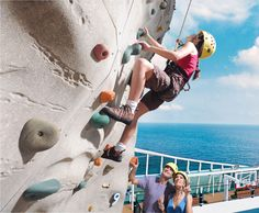 Try out the climbing walls on Royal Caribbean's incredible ships.