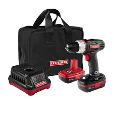 Craftsman 19.2 Volt Drill Driver with 2 Lithium-Ion Batteries - Tools - Cordless Handheld Power Tools - Drills