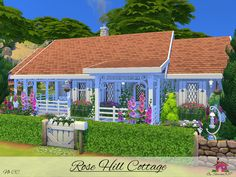 Rose Hill Cottage is a small home built on a 20 x 20 lot in Windenburg. Found in TSR Category 'Sims 4 Residential Lots' Small Cottage Homes, Small Tiny House, Sims 4 Family, Sims 4 House Building, The Sims 4 Lots, Sims 4 House Design, Casas The Sims 4, Sims 4 Cc Furniture, Sims 4 Build