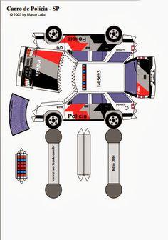 Educar X: Molde de carro de policia para maquete