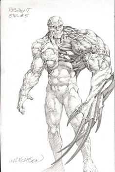 Bernie Wrightson Resident Evil Monster Illustration Illustration Original