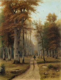 "✨ Eduard Hein (Jr.) - Pilzsammler im Wald. Spätes 19. Jh., Öl auf Leinwand. Signiert ""E. Hein Df."" u. re., 35,5 x 27,2 cm"