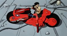 Kaneda on Bike w/ Cannon Cel Sketch - Akira, in Tommy Serra's Animation Cels - Anime Comic Art Gallery Room - 983265 Expo Anime, Akira Anime, Drawing Superheroes, Katsuhiro Otomo, Neo Tokyo, Star Wars Concept Art, Cyberpunk Art, Cyberpunk 2020, Film D'animation