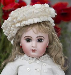"19"" (48 cm) very Beautiful Rare Antique French Bisque Bebe E.J. Jumeau from respectfulbear on Ruby Lane"