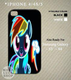 Neon Rainbow Dash My Little Pony case for