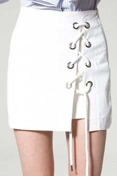 Gemma Lace Up Skirt Discover the latest fashion trends online at storets.com