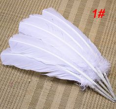 Free shipping 100pcs dyed color mix 25 35cm real natrual turkey feathers hair extensions accessories for bulk sale craft making-in Feather f...