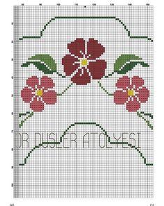 Hand Embroidery Design Patterns, Cross Stitch Embroidery, Embroidery Ideas, Cross Stitch Fruit, Crochet Motif, Ideas, Embroidery Patterns, Hand Embroidery, Cross Stitch Designs