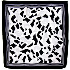 carré de soie noir puzzle #foulard #soie #mesecharpes http://www.mesecharpes.com/foulard/foulard-soie-carre/carre-de-soie-foulard-noir-et-gris-85-x-85-cm-puzzle.html