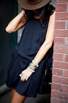Black bohemian beauty // Chic boho style