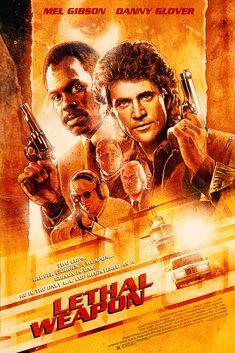 Paul Shipper Lethal Weapon alt poster (Richard Donner, 1987)