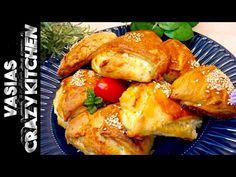 Τραγανα Τυροπιτακια Κουρου - Τυροπιτακια Κουρου Σπιτικα - Τυροπιτακια Κουρου Ευκολα Συνταγη - YouTube Quick Snacks, French Toast, Snack Recipes, Appetizers, Meat, Chicken, Breakfast, Youtube, Sweet Ideas