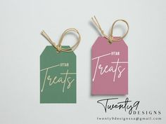 Iftar, Gift Tags, Printables, Treats, Etsy Shop, Personalized Items, Unique Jewelry, Handmade Gifts, Check