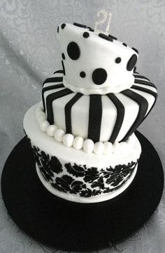 Black and White Birthday Cake | Cakes Beautiful Cakes for the ...