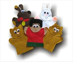 http://www.aimlanguagelearning.com/index.php/browse/search/part_num_and_description/puppets   Click on the link beside to go to the website to purchase these hand puppets.  They are used to teach kids French.  This set is called Le petite chat.  maybe your children have seen these before.