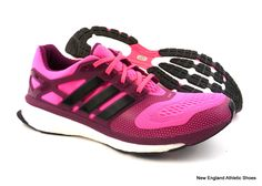 adidas women Energy Boost 2 running shoes sneakers size 6.5 - Solar Pink / Black