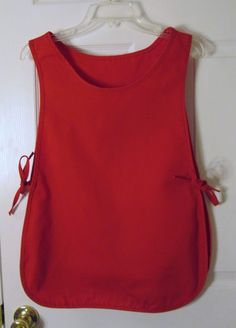 "New Intedge C335 Cobbler Apron 17.5"" W x 29"" L Poly Cotton Blend Bright Red #Intedge"