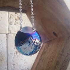 @rosekren  I don't think I'll ever get sick of making these custom mountain range necklaces. Pocket for essential oils.