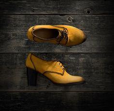 Shoe Embassy | Roulette - Mango-tango #shoeembassy #roulette #heels #mangotango #mango #yellow