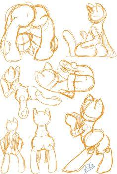 Pony Study 5 butt version by katze-des-grauens on DeviantArt