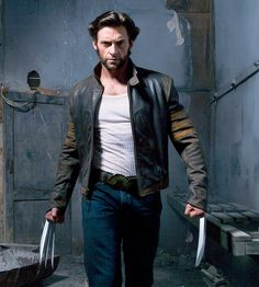 X-Men Wolverine Logans Hugh Jackman Leather Jacket Vintage Biker Style All Sizes Logan Wolverine, Wolverine 2009, Wolverine Movie, Marvel Wolverine, Wolverine Costume, Wolverine Images, Hugh Jackman, Hugh Michael Jackman, Actor