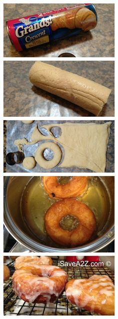Simple Donut Recipe made with crescent rolls!  - iSaveA2Z.com