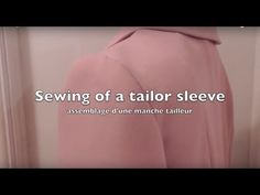 Sewing a Tailor sleeve. All steps for good result. - YouTube