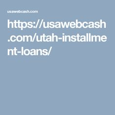 You don't have to feel like no one will help you when you need to borrow money. There are installment loans for people with poor credit. Get in touch with us for Utah installment loans.     #utahinstallmentloans