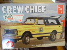 """This is the 1/25 Scale 1972 Chevy """"Crew Chief"""" Blazer Plastic Model Kit from…"""