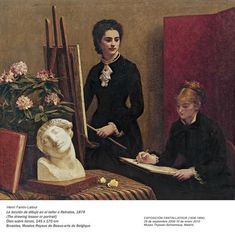 The Drawing Lesson In The Studio 1879 - Henri Fantin - Latour - (French: 1836 - Henri Fantin Latour, Drawing Lessons, Art Lessons, Manet, Silver Wall Art, Art Français, Classic Paintings, Museum Of Fine Arts, French Art