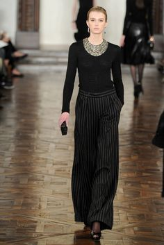 Ralph Lauren --- that necklace is insane! The rest of the outfit IS the accessory.