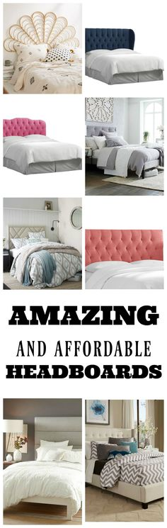 Check out these amazing and affordable headboards! Love all of them!