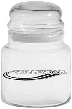 "• Fun to have around the house or in the office! • ""Volleyball"" logo • 16 ounce jar • Stands approximately 6"" tall • Candy not includ 