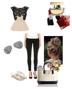 Perfekt  by alicia-schad on Polyvore featuring polyvore, Mode, style, Lipsy, Paige Denim, Monsoon, Ray-Ban and MAC Cosmetics