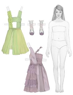 #fashion #illustration #paperdoll